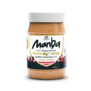 Manba Creamy Spicy Peanut Butter Medium Natural