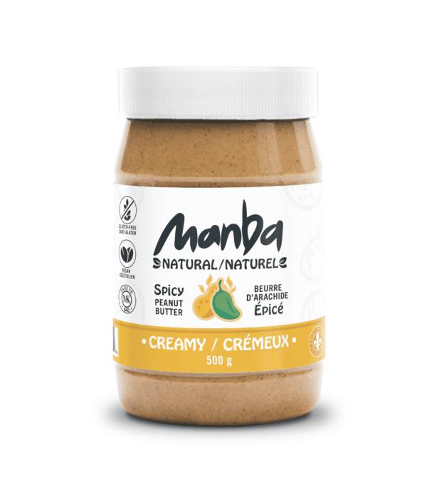 Manba Creamy Spicy Peanut Butter Medium Natural